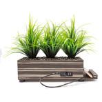PowerPlant 4-Port Tall Grass Charging Station // Zebra Wood
