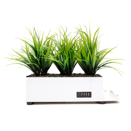 PowerPlant 4-Port Tall Grass Charging Station // White