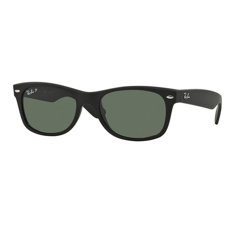 Unisex New Wayfarer Classic Sunglasses // Matte Black + Green