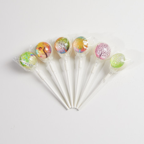 Whimsical Trees Lollipops // 6 Piece