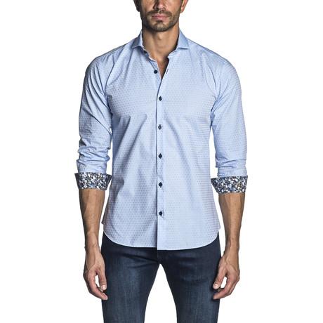Jacquard Woven Shirt // Light Blue (S)