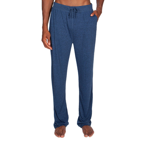 Super Soft Lounge Pant // Melange Medium Blue (S)