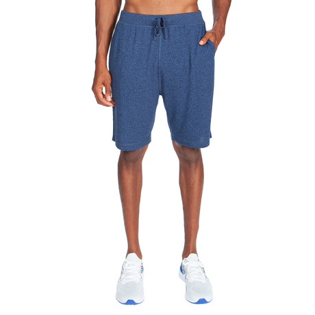 Super Soft Short Pant // Melange Medium Blue (S)