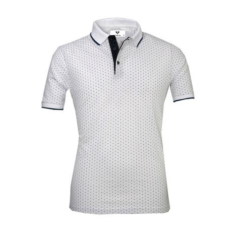 Addison Shirt // White + Black Dots (S)
