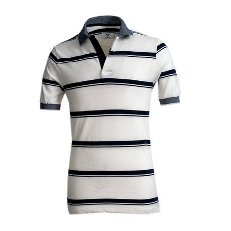 Aguilar Shirt // White + Black Lines (S)