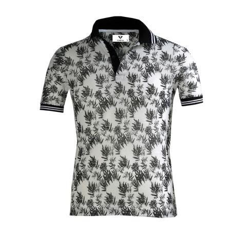 Malcolm Shirt // White + Black Floral (S)