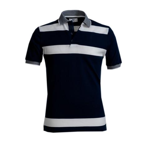 Dawson Shirt // Navy Blue + White Lines (S)