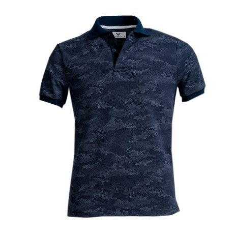 Cliff Shirt // Navy Blue Camouflage (S)