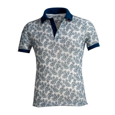 Osmond Shirt // White + Blue Paisley (S)