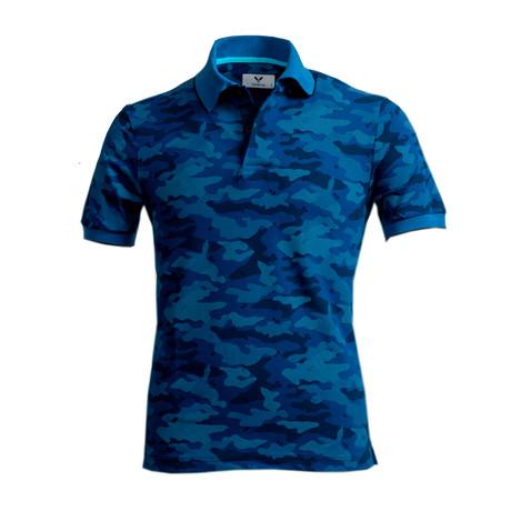 Baldwin Shirt // Blue Camouflage (S)
