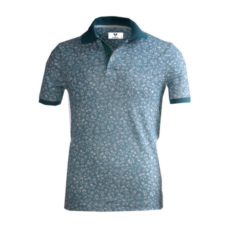 Bacchus Shirt // Medium Blue + White Floral (S)