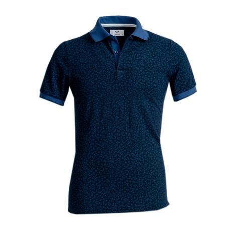 Fletcher Shirt // Black + Navy Blue Floral (S)