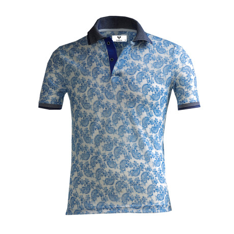 Carlson Shirt // White + Blue Paisley (S)