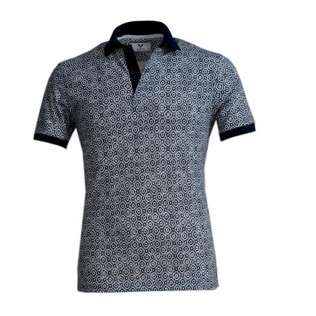 Franklin Shirt // Navy Blue + White (S)