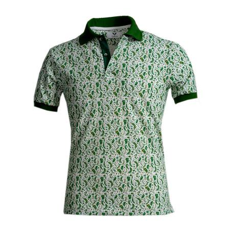 Covington Shirt // White + Green Floral (S)