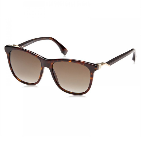Unisex 0199S Sunglasses // Dark Havana + Brown Gradient