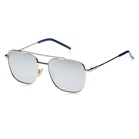 Fendi // Men's M0008 Aviator Metal Sunglasses // Silver