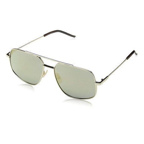 Men's M0007 Rectangular Sunglasses // Gray + Bronze Mirror