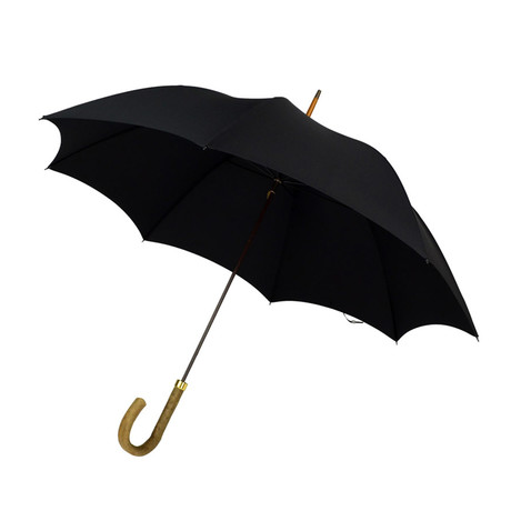 Natural Ash + Tip Cup Umbrella // Black