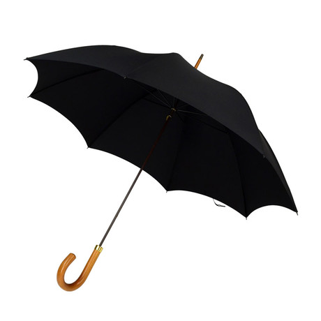 Malacca Handle + Tip Cup Umbrella // Black