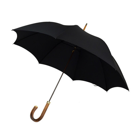 Natural Chestnut + Tip Cup Umbrella // Black