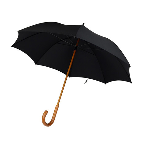 "Malacca Handle + 24"" Frame Umbrella // Black"