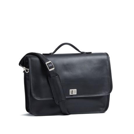 "13"" Laptop Executive Brief // Genuine Leather (Black)"