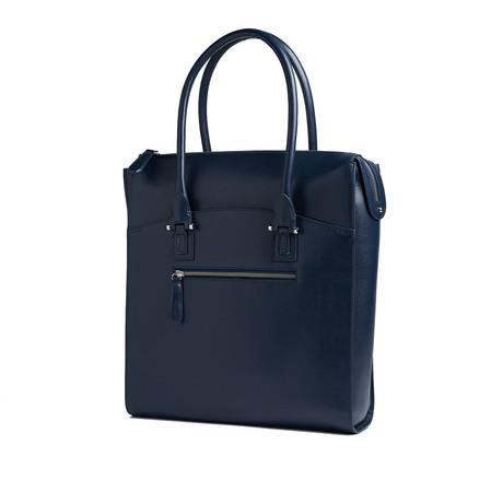 Travel Carryall Laptop Tote Bag // RFID Blocking // Navy Blue