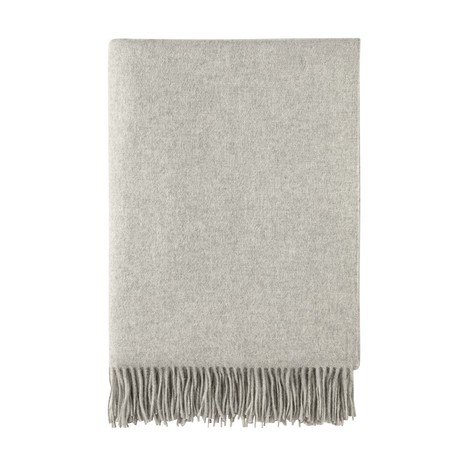 Cashmere Travel Throw // Queen // Silver