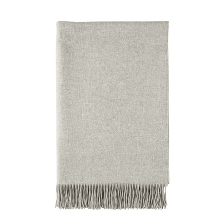 Cashmere Bed Throw // Queen // Silver