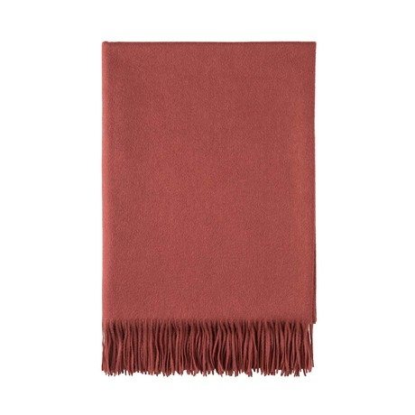 Cashmere Travel Throw // Queen // Fired Brick