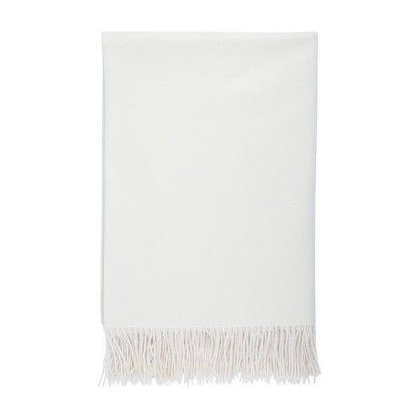 Cashmere Travel Throw // Queen // White