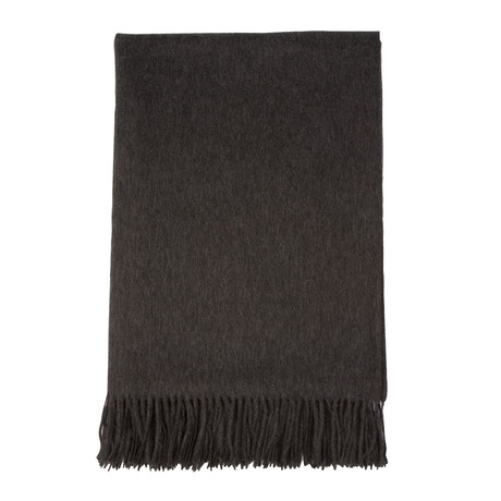 Cashmere Travel Throw // Queen // Charcoal