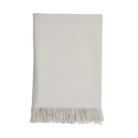 Cashmere Travel Throw // Queen // Natural