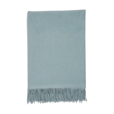 Cashmere Travel Throw // Queen // Duck Egg