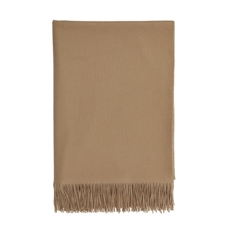 Cashmere Travel Throw // Queen // Camel