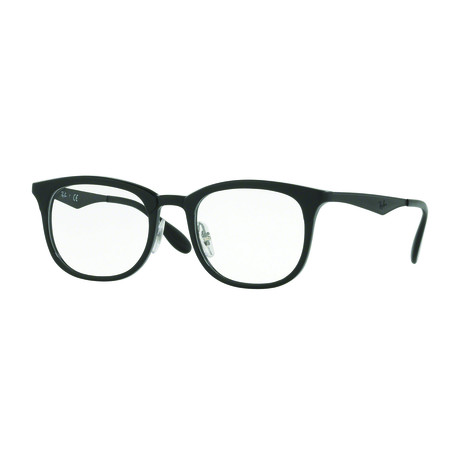 Men's 0RX7112 Square Optical Frames // Black