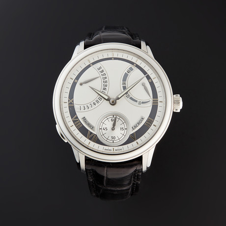 Maurice Lacroix Masterpiece Calendrier Rétrograde Manual Wind // MP7268-SS001-110 // Pre-Owned
