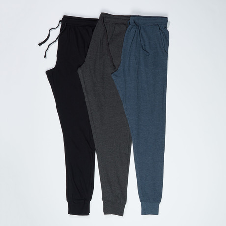 3 Pack Super Soft Cuffed Joggers // Multicolor (S)