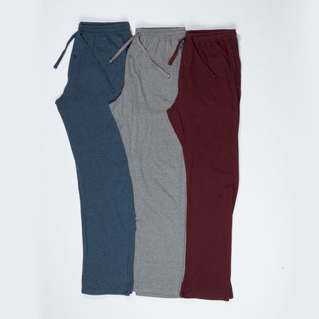 3 Pack Super Soft Open Leg Lounge Pant // Multicolor (S)
