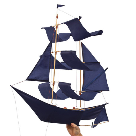 Sailing Ship Kite // Small (White)