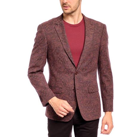 Slim Fit Sport Jacket // Brown + Red (US: 36S)