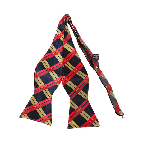 Self-Tie Bow Tie // Red + Black + Yellow