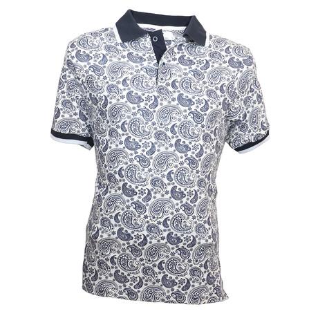 Robinson Shirt // White + Black Paisley (S)
