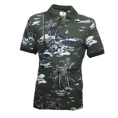 Barrett Shirt // Green Beach (S)