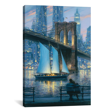 """Dream For Two // Evgeny Lushpin (12""""W x 18""""H x 0.75""""D)"""