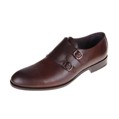 Austin Monk Shoe // Brown (Euro: 40)