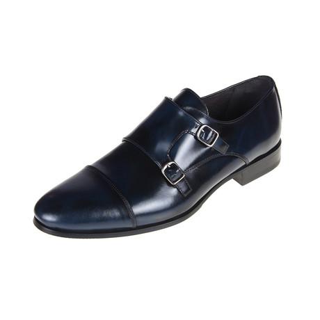 Memphis Monk Shoe // Navy (Euro: 40)