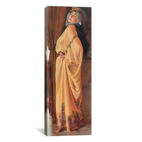 """Arabian Woman (12""""W x 36""""H x 0.75""""D)"""