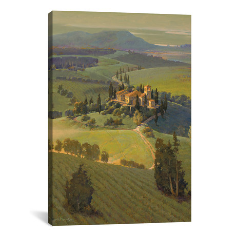 """Hills Of Tuscany // Maher Morcos (12""""W x 18""""H x 0.75""""D)"""